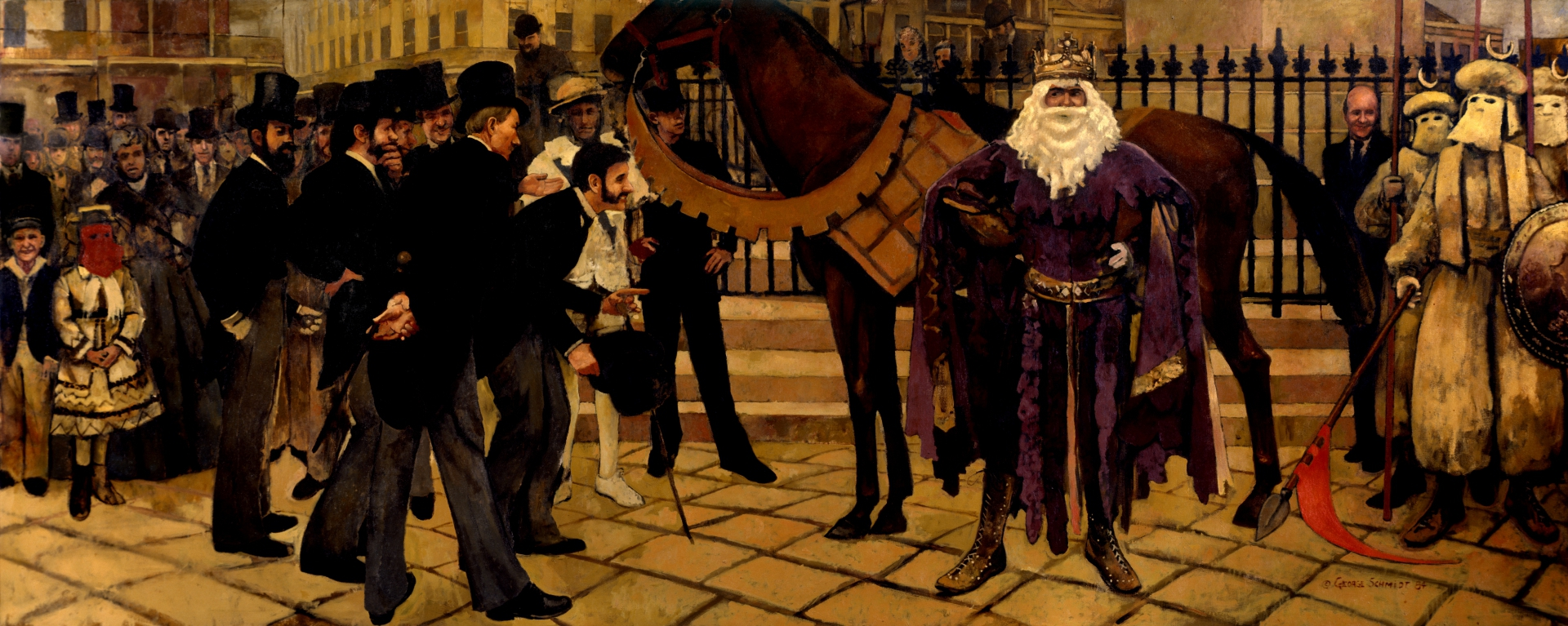 The First Rex, King of Carnival 1872 :: Oil on canvas