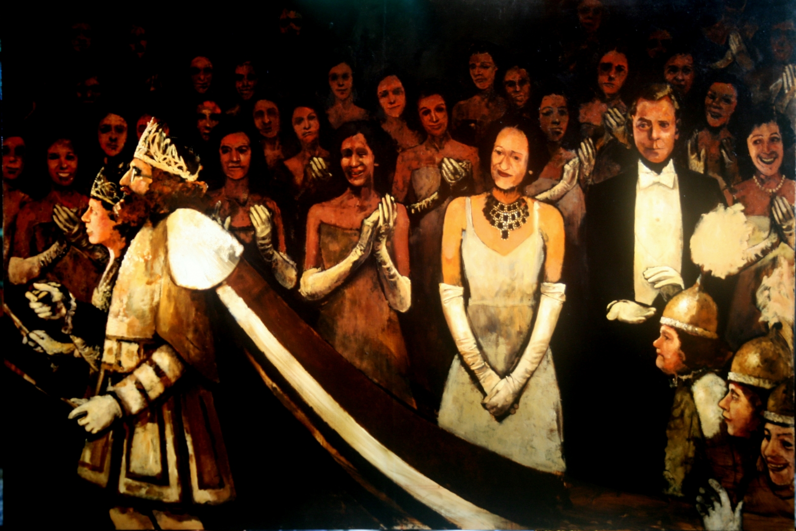 The Duke and Duchess of Windsor at the Comus Ball 1950 :: Oil on canvas