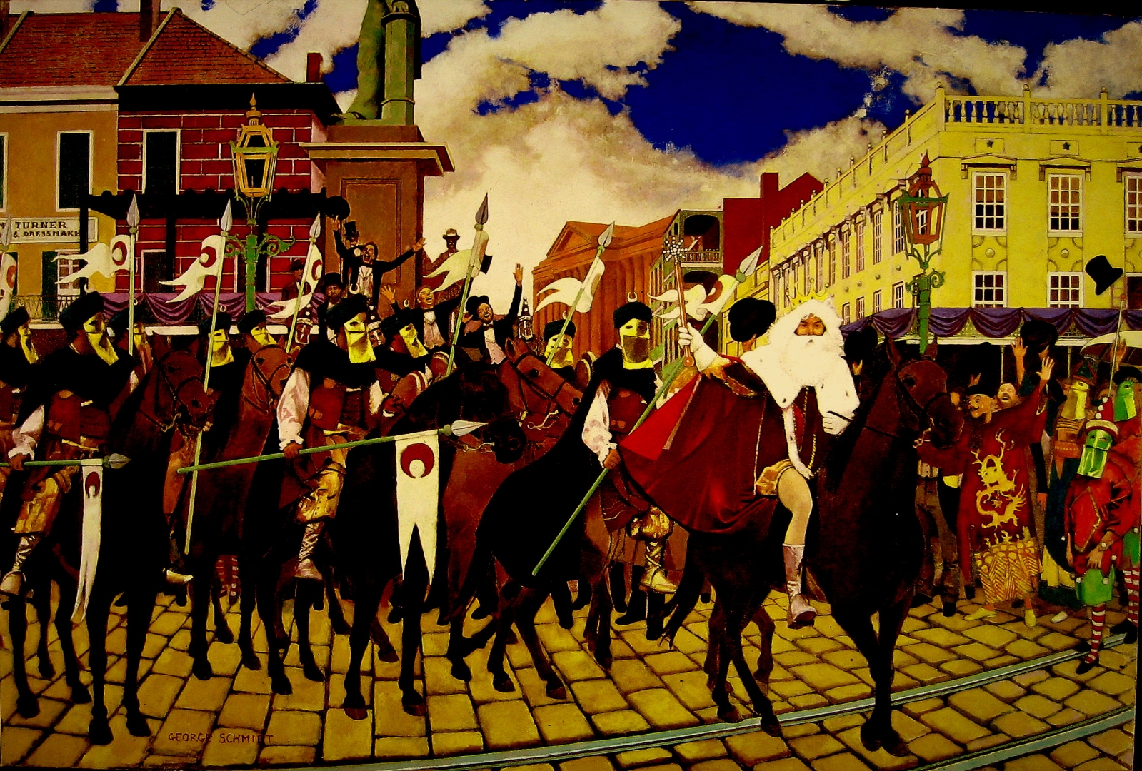 The First King of Carnival, Lewis Soloman 1872 :: Oil on canvas, This painting was executed for the Rex Organization's proclamation poster in 1992