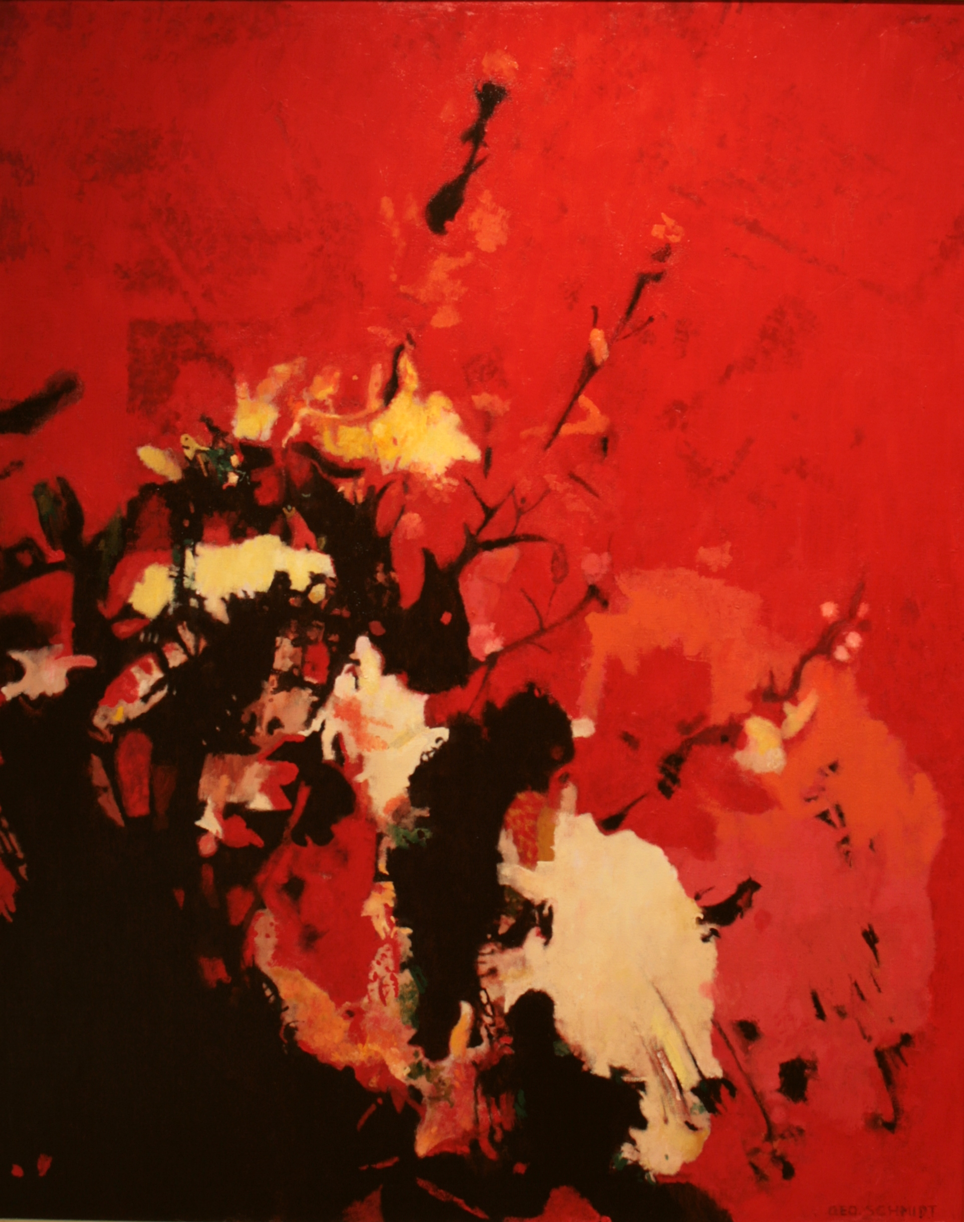 """Big Red 1-oil on canvas 60"""" x48"""""""