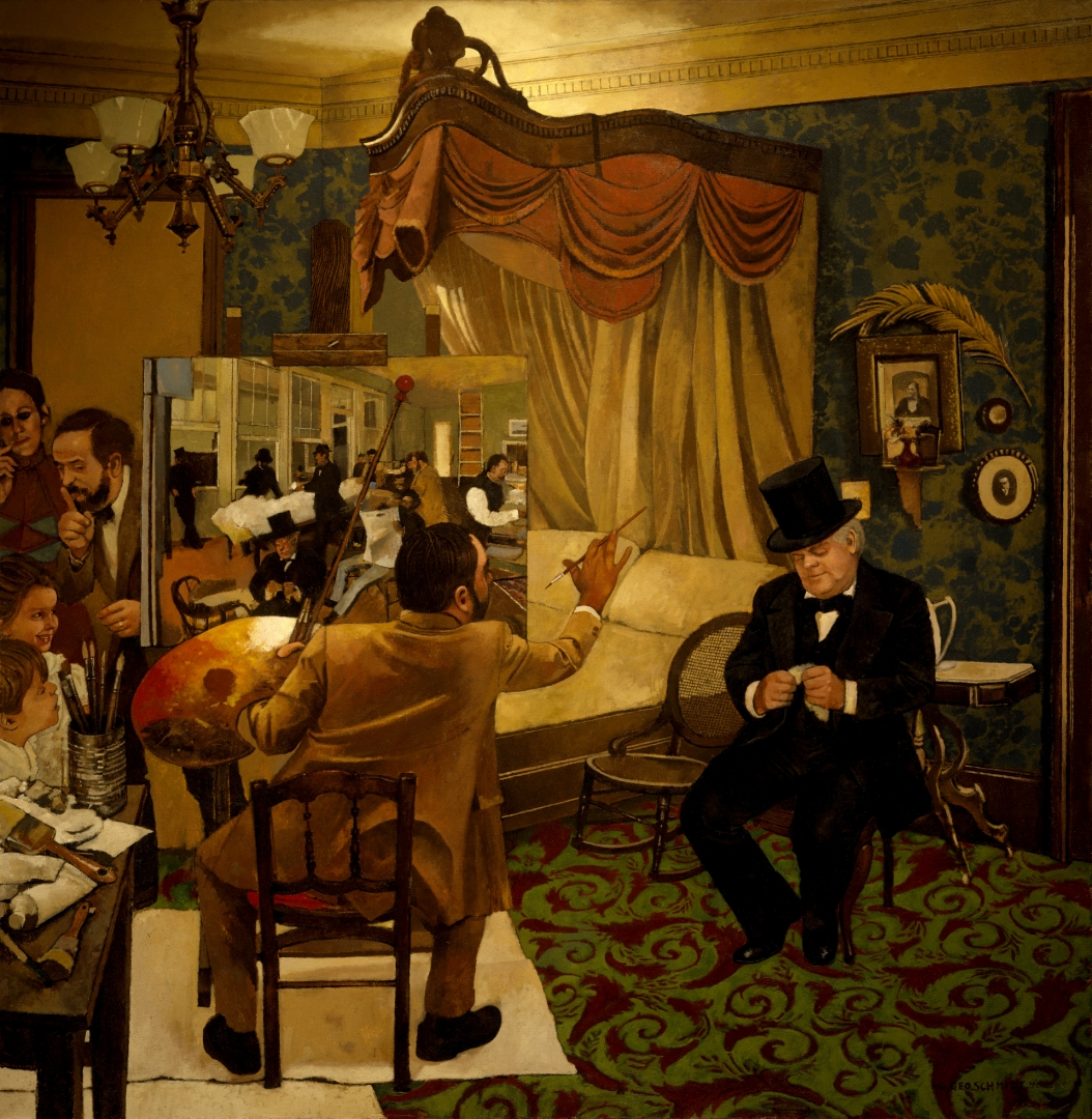 "Degas Painting ""Portraits in a Cotton Office."" :: Oil on canvas"