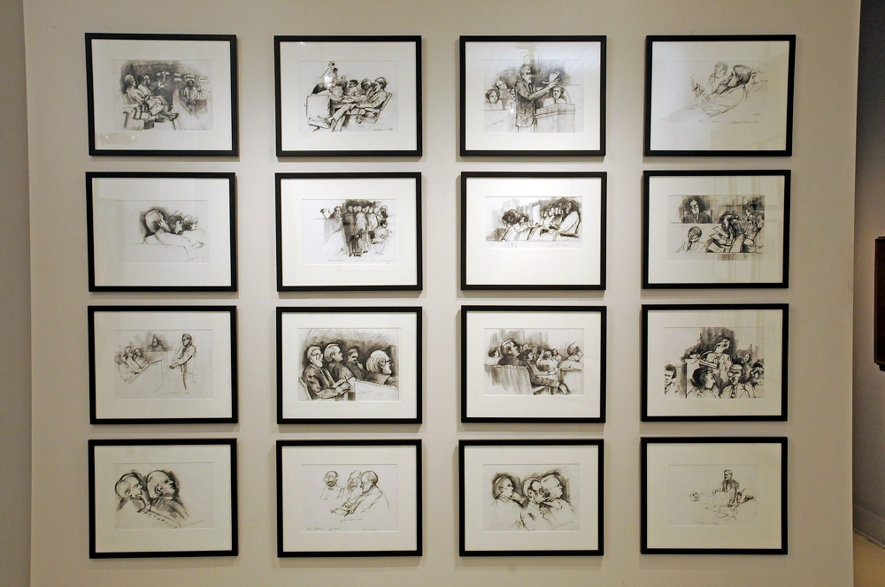 These drawings were made of the first trial of Gov. Edwin Edwards in 1985 for the New Orleans Times -Picayune.