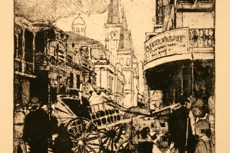William Woodward Painting in the French Quarter 1900 ::