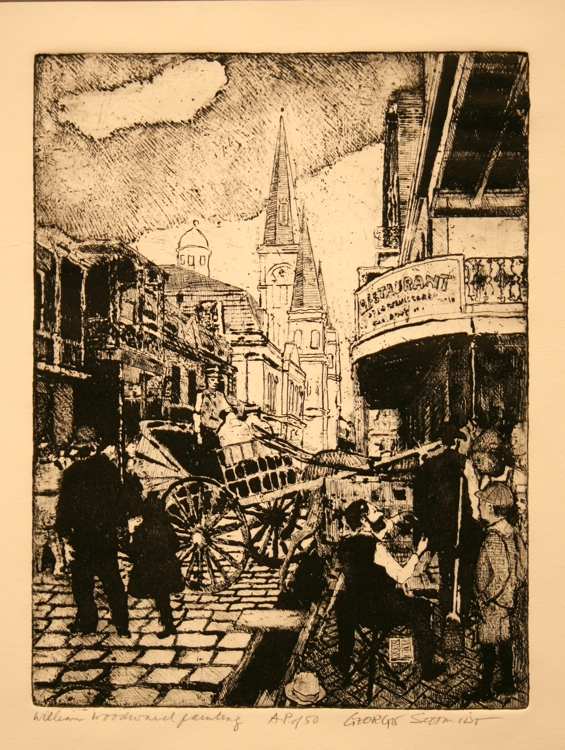 William Woodward Painting in the French Quarter 1900 :: Edition 50