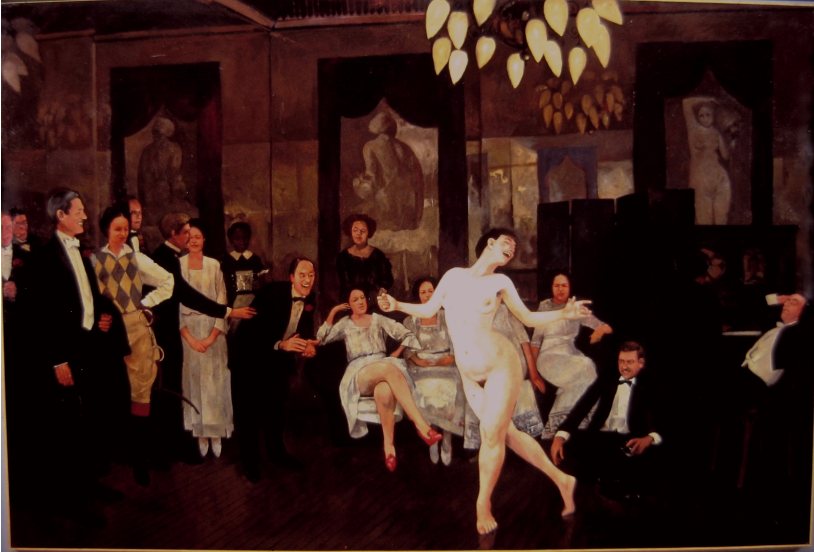 The Naked Dance :: Oil on canvas