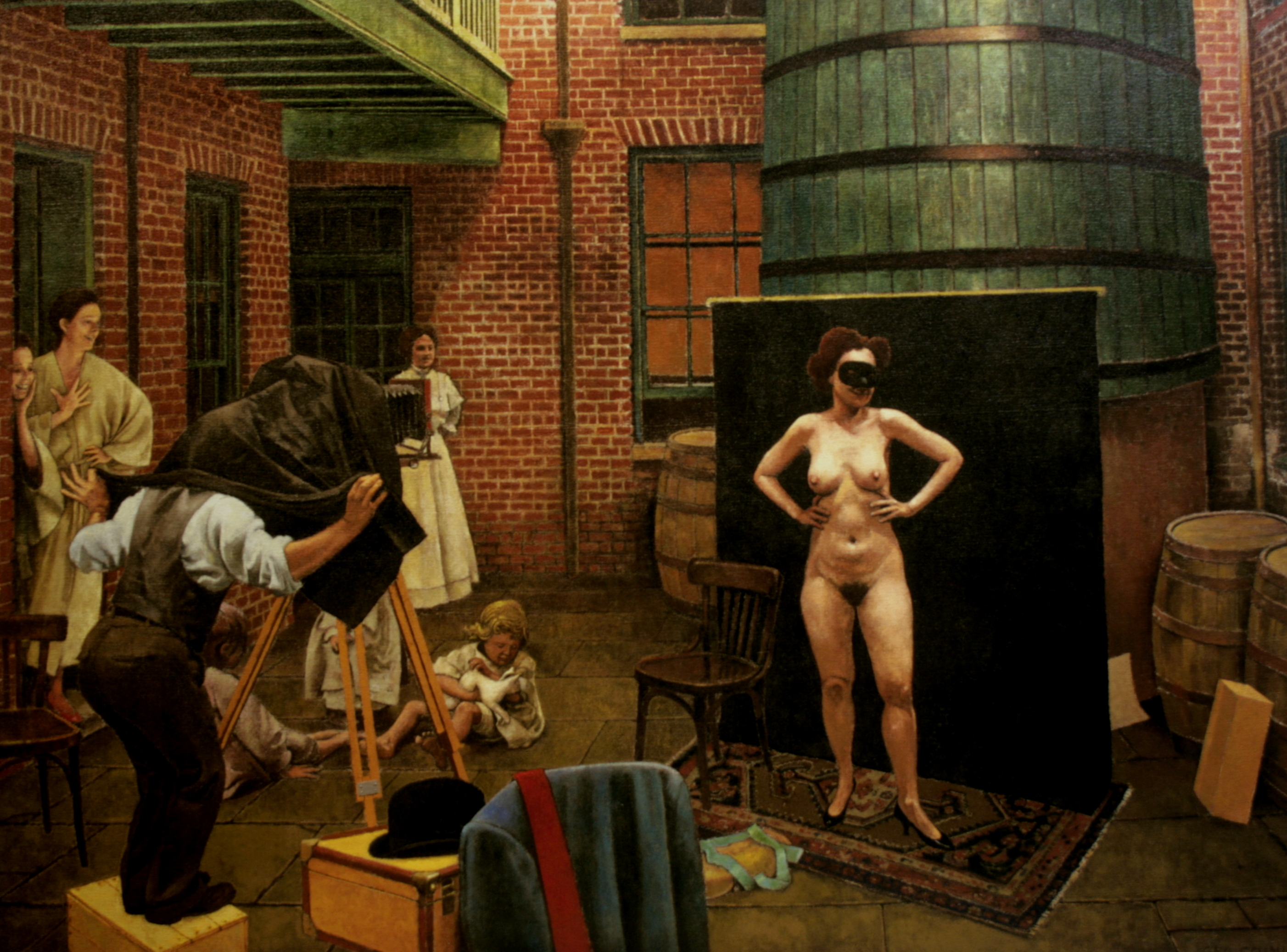 Ernest Bellocq Photographing a Prostitute New Orleans :: Oil on Linen