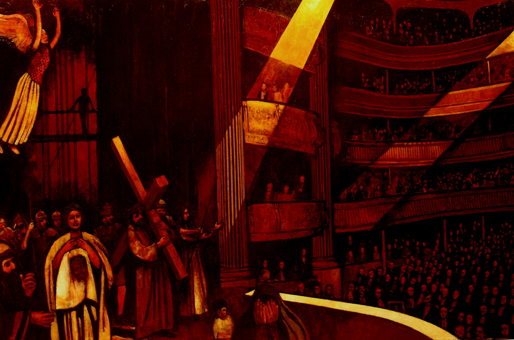 Father Ethier's Passion Play, French Opera House, N.O.LA. :: Oil on Canvas
