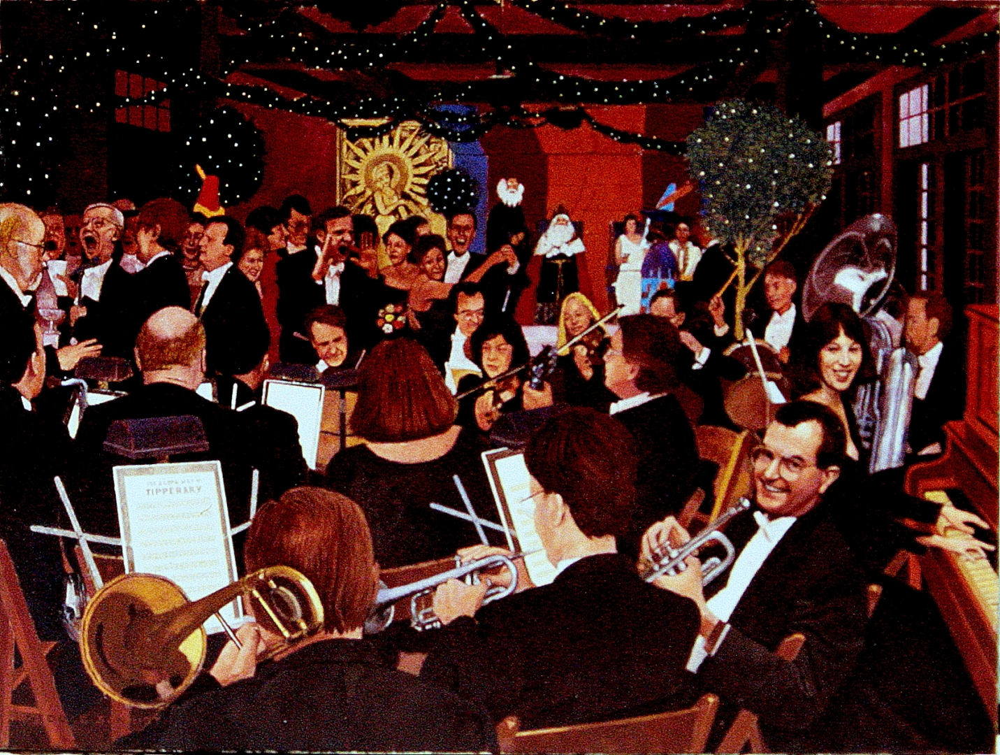 New Leviathan Orchestra at the Arthurians Ball, N.O.LA. :: Oil on Canvas