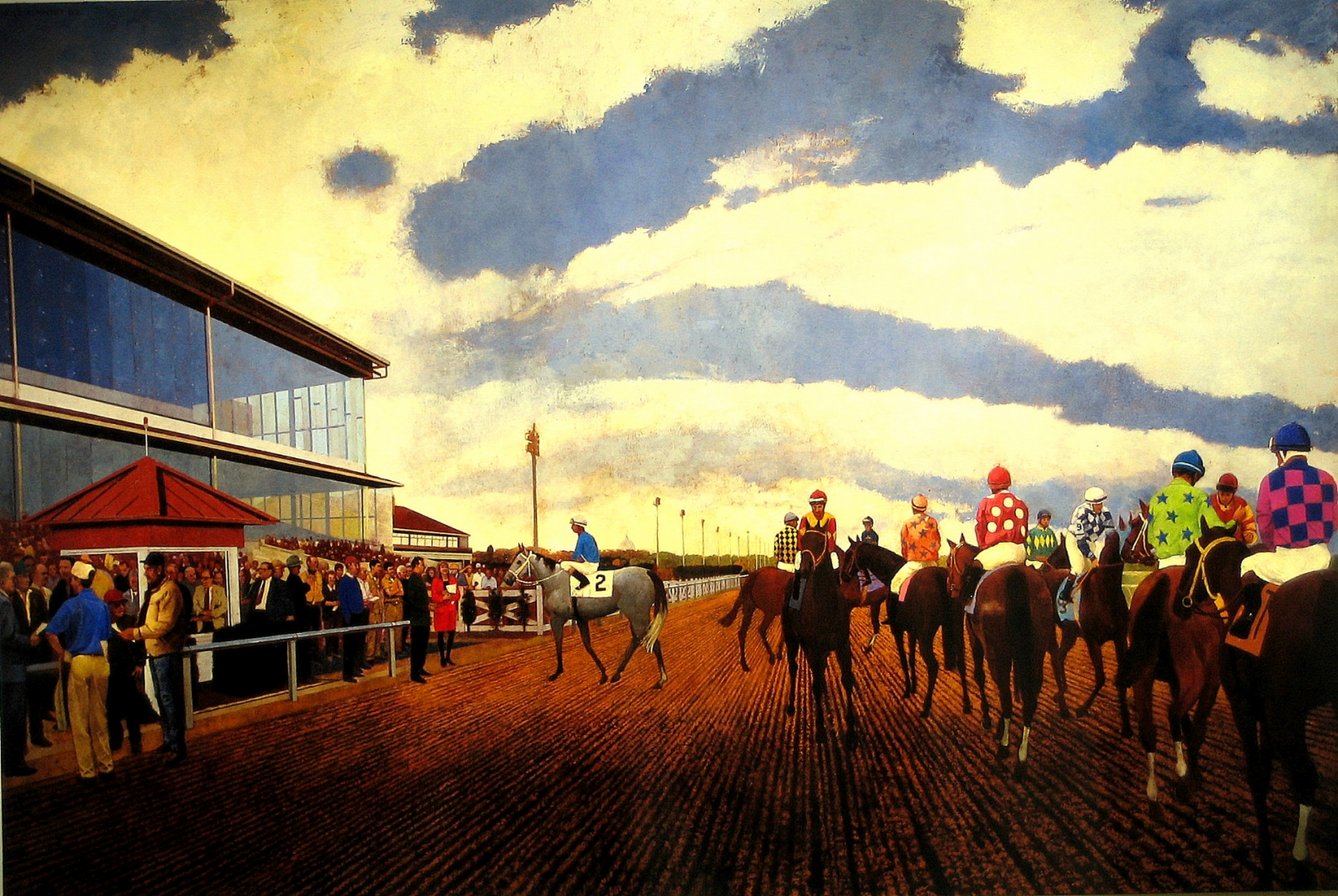 Approach to the Winners Circle :: Oil on Canvas