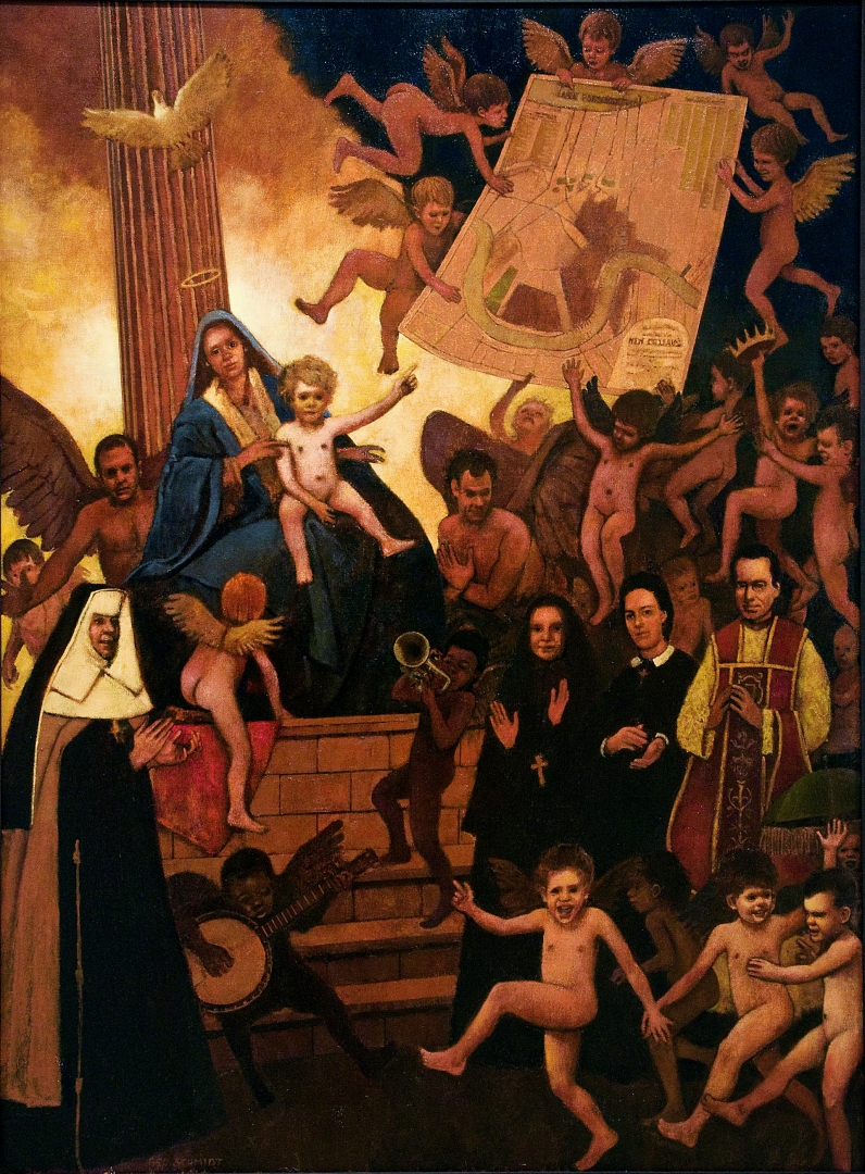 Sacra Conversazione - All Saints of New Orleans :: Oil on Canvas