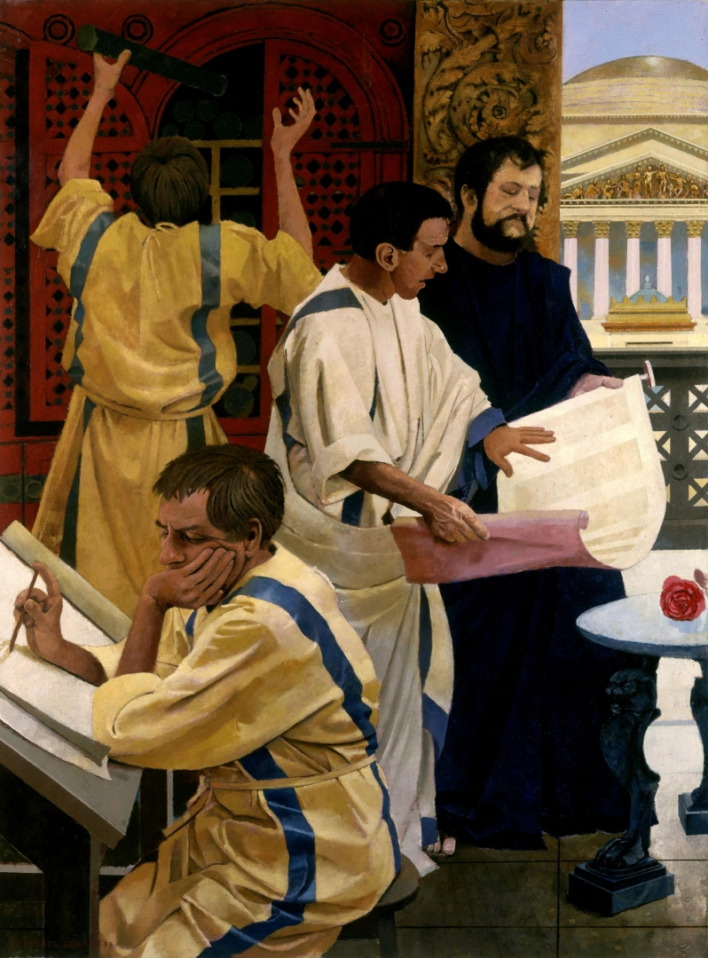 Hadrian in the Office of Gaius :: Oil on linen