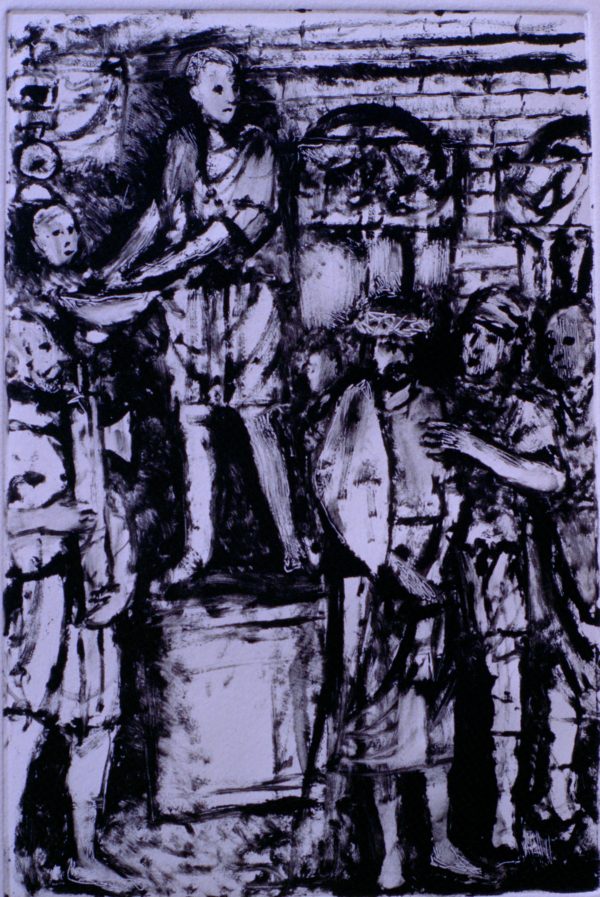Jesus is Condemned to Die :: Monotype
