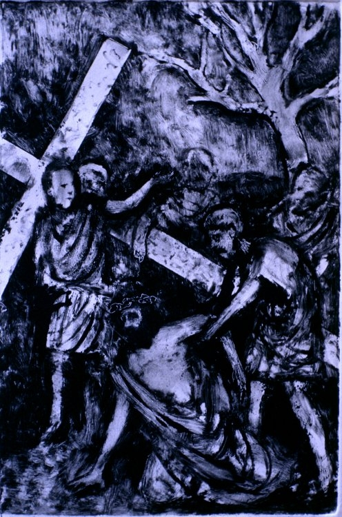 Jesus Falls the Second Time :: Monotype