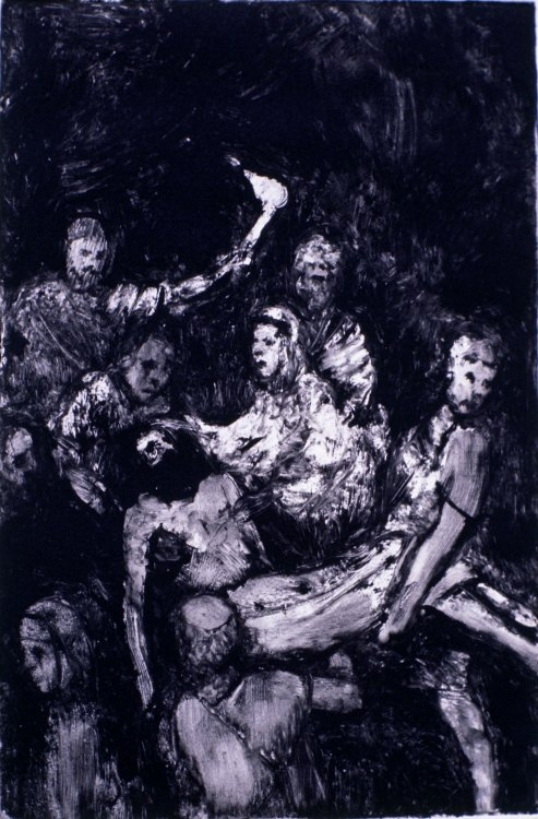Jesus is Laid in the Tomb :: Monotype