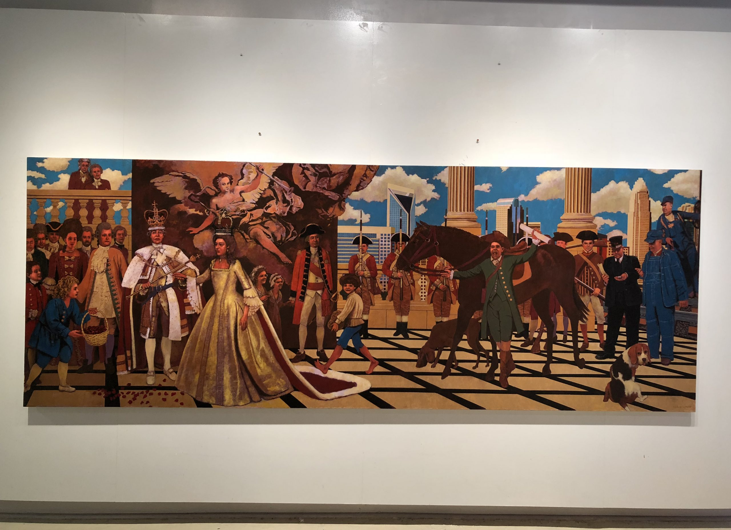 "History of Charlotte North Carolina. Oil on Canvas 48""x 130"""